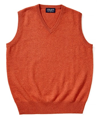 Lambswool - Slipover - Burnt Orange