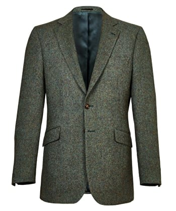 Dales Tweed Jacket - Green Donegal