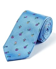 Wild Flowers on Sky - Woven Silk Tie