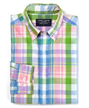 Madras Check - Green/Pink