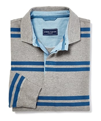 Rugby Shirt - Grey/Blue