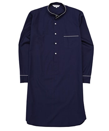 Nightshirt - Navy - Fine Cotton