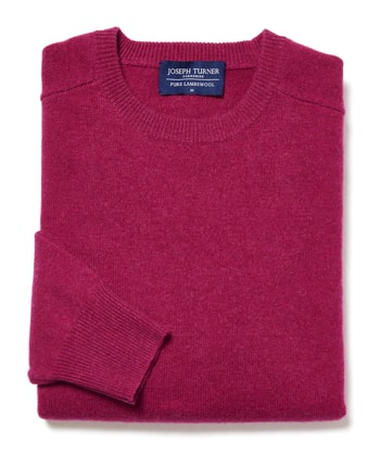 Lambswool Jumper - Crew Neck - Magenta