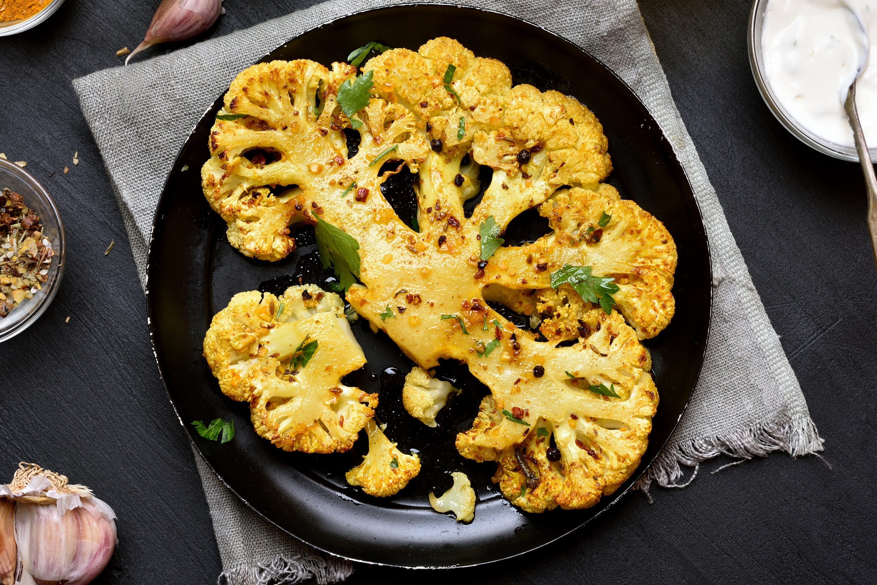 Spiced Cauliflower Steaks