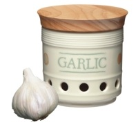 Classic Collection Ceramic Garlic Storage Jar with Lid