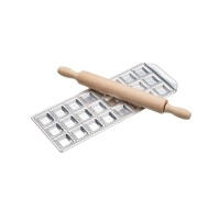 KitchenCraft Italian Mini Ravioli Tray with Rolling Pin
