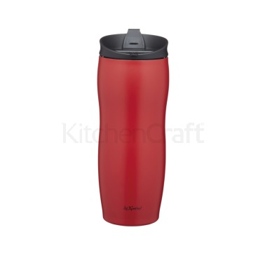 Le'Xpress 400ml Red Double Walled Insulated Travel Mug