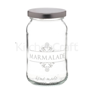 Home Made Traditional Glass 454ml  'Marmalade' Jar