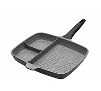 MasterClass Cast Aluminium Three Section Grill Pan