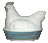 Hen House Ceramic Egg Keeper