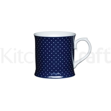 KitchenCraft Fine Porcelain Blue Spot Mug