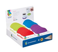 Colourworks Display of 72 Silicone Round Coasters