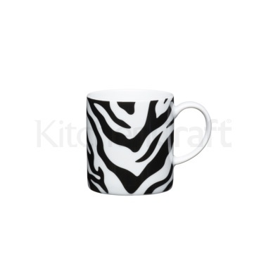 KitchenCraft 80ml Porcelain Zebra Print Espresso Cup