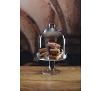 MasterClass Appetiser Footed Glass Domed Serving Stand