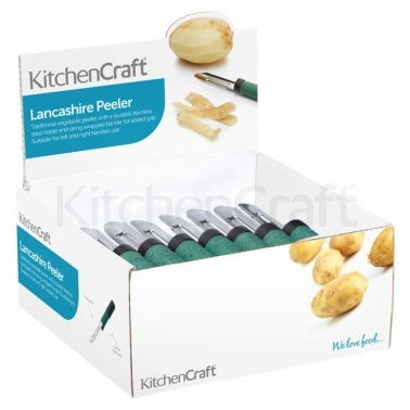 KitchenCraft Display of Twenty-Four Lancashire Peelers