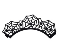 Spookily Does It Pack of 12 Spider Web Paper Cake Wraps
