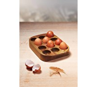 KitchenCraft Natural Elements Acacia Wood Egg Rack