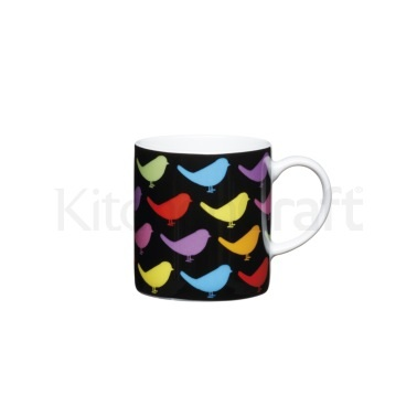 KitchenCraft 80ml Porcelain Birds Espresso Cup