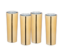 BarCraft Metallic Tall Shot Glasses