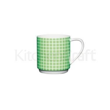 KitchenCraft Bone China Neon Green Stacking Mug