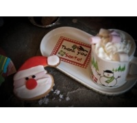 Santa & Friends Mug and Cookie Tray Set