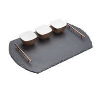 Artesà Four Piece Slate & Copper Serving Set