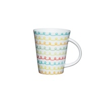 Kitchen Craft Fine Porcelain Scribble Mug