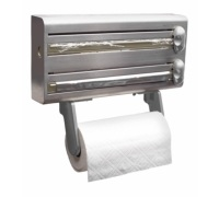 Master Class Stainless Steel Cling Film, Foil and Kitchen Towel Dispenser