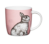 KitchenCraft Set of Four Fine Bone China Rabbit Mugs