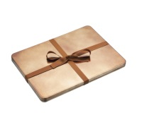 Winter Woodland Set of 4 Dark Gold Lacquer Placemats