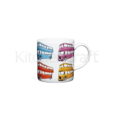 KitchenCraft 80ml Porcelain London Bus Espresso Cup