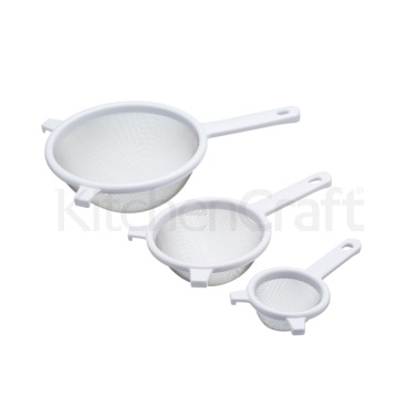 Kitchen Craft 3 Piece Stainless Steel Sieve Set