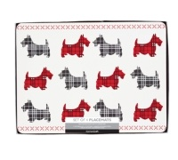 Kitchen Craft Scottie Dog Cork Back Laminated Set of 4 Placemats
