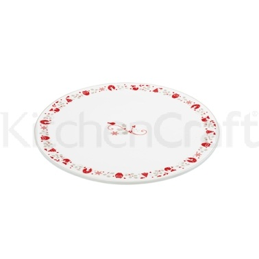 Winter Woodland 30cm Flat Porcelain Cake/Cheese Platter