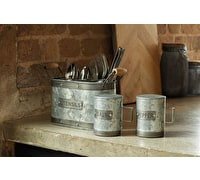 Industrial Kitchen Galvanised Steel Utensil Caddy
