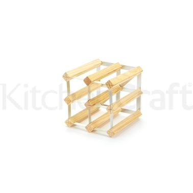 BarCraft 6 Bottle Pine Wood Wine Rack