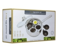 KitchenCraft Stainless Steel Four Hole Egg Poacher