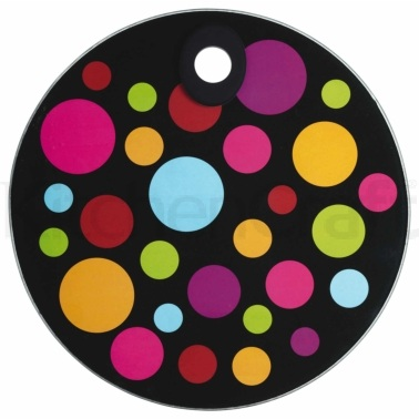 Kitchen Craft Toughened Glass Round Worktop Protector - Polka