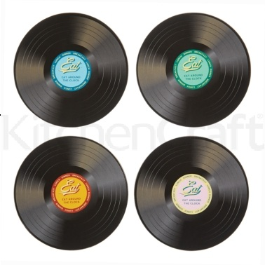World of Flavours Stateside Pack of 4 Retro Record Placemats