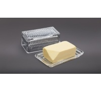 MasterClass Glass Butter Dish
