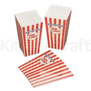 World of Flavours Stateside Pack of 6 Paper Popcorn Boxes