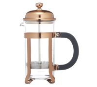 Le'Xpress Chrome Plated Copper Finish 3 Cup Cafetiere