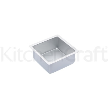 Master Class Silver Anodised 15cm Square Deep Cake Pan