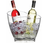 BarCraft Clear Acrylic Double Sided Drinks Pail / Cooler