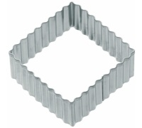 Kitchen Craft 6cm Fluted Sqaure Cookie Cutter