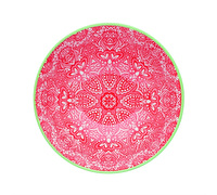 KitchenCraft Red and Pink Victorian Style Print Ceramic Bowls