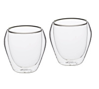 Le'Xpress Double Walled Glass Tumblers