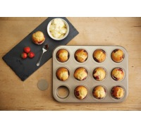 Paul Hollywood Non-Stick Loose Base Twelve Hole Mini Sandwich Tin