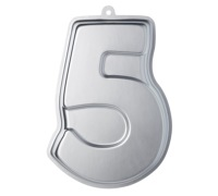 Sweetly Does It Silver Anodised Number Five Shaped Cake Pan