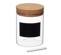 Natural Elements Small Glass Storage Canister